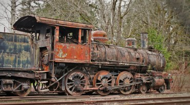 Steam Engine in Railroad Graveyard Snoqualmie Washington 7