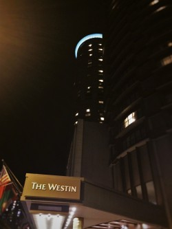 View of the Westin Seattle at Night 2traveldads.com