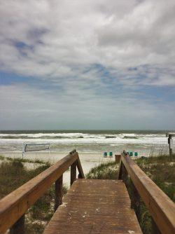 Boardwalk from Casa Marina Hotel Jacksonville Beach Florida sunny 2