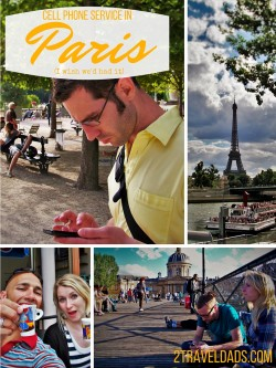When we roamed around Paris we got lost & separated a few times. If we'd had cell phone service in Paris we would've had a bit more fun. Insidr is for that. 2traveldads.com
