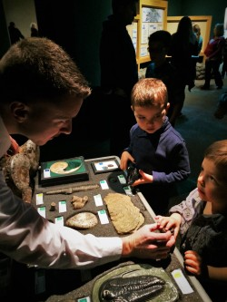 Docent and Fossils at Prehistoric Journey in Denver Museum of Science and Nature 1
