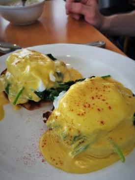 Eggs Florentine at Restaurant 301 at Carter House Inn Eureka 1