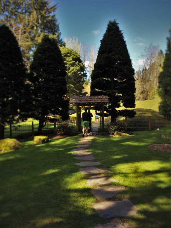 Entrance to Japanese Garden at Bloedel Reserve Bainbridge Island 1