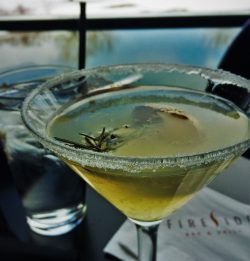 Lemon Rosemary Gin Cocktail at Fireside Lounge at Inverness Hotel Denver Colorado 2