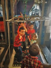 LittleMan in bubble cage at Childrens Museum of Denver 1