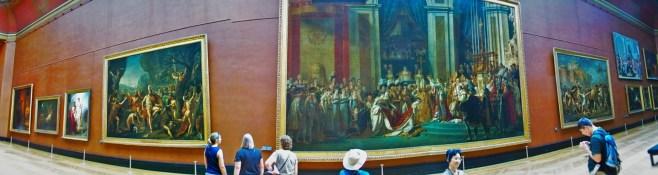 Panoramic in the Louvre Paris 2traveldads.com
