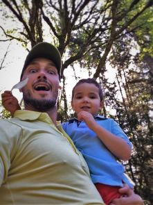 Rob Taylor and LittleMan at Bloedel Reserve Bainbridge Island 1