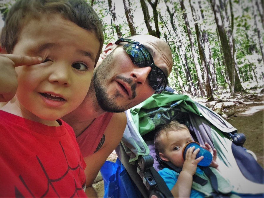 Rob Taylor and dudes hiking at Kennesaw Mountain National Battlefield 4