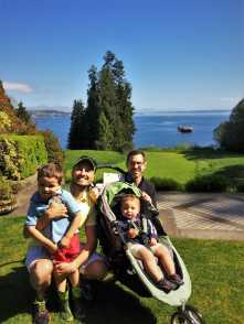 Taylor Family and Puget Sound at Bloedel Reserve Bainbridge Island 1