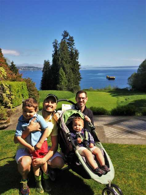 Taylor Family and Puget Sound at Bloedel Reserve Bainbridge Island 1