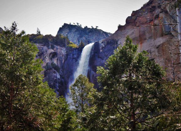 Bridal Veil Falls from Valley Floor in Yosemite National Park 5