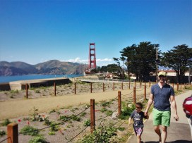 Chris Taylor and LittleMan at Golden Gate Bridge from Welcome Center GGNRA 1