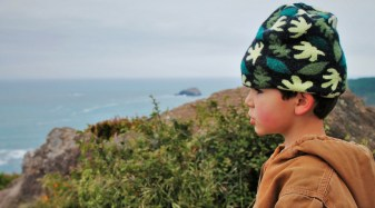 LittleMan hiking at Trinidad Head