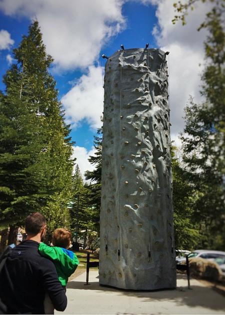 Rock climbing wall at Tenaya Lodge Yosemite 2traveldads.com
