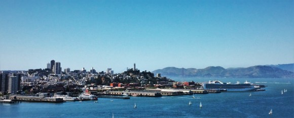 San Francisco from Bay Bridge pano 1