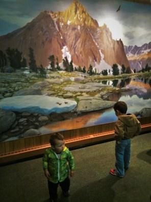 Wildlife Mural at Grant Village Visitors Center Kings Canyon National Park 2