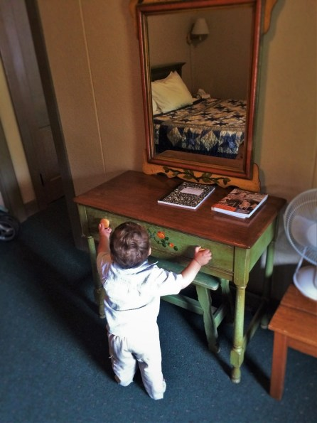 TinyMan in room at Oregon Caves Chateau