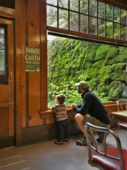 Chris Taylor and TinyMan in Coffee Shop at Oregon Caves Chateau
