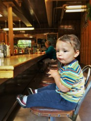 TinyMan in Coffee Shop at Oregon Caves Chateau