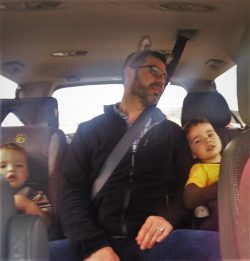Chris Taylor and Kids on Roadtrip
