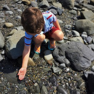LittleMan at Tide pools at Battery Point Lighthouse Crescent City 2