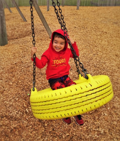 LittleMan on Swing at Beach Front Park Crescent City 1