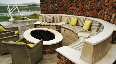 Outdoor firepit at Bodega Bay Lodge 2traveldads.com