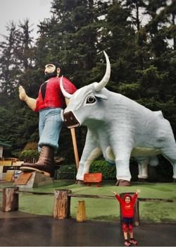 Paul Bunyan and Babe the Blue Ox Redwoods California 2traveldads.com