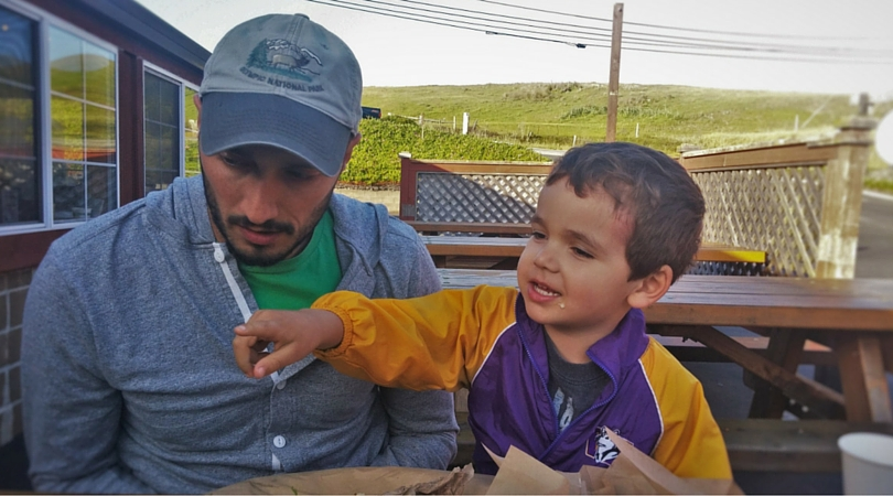 Rob Taylor and Tiny Man at Fishertarian Bodega Bay 2