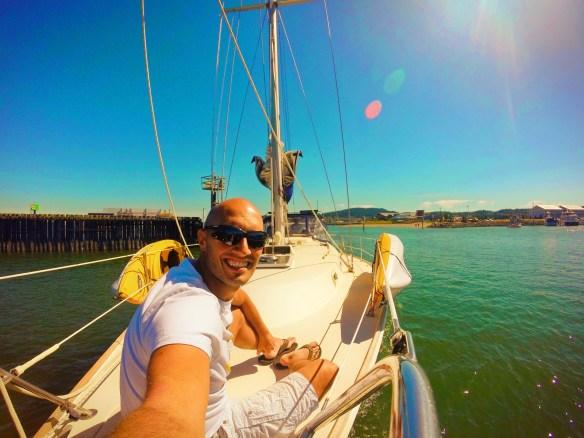 Rob Taylor boating in Fidalgo Bay Anacortes