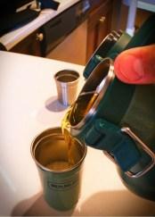 Stanley Vacuum growler pouring beer in Anacortes 2traveldads.com