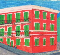Watercolor of Hotel en Deiva Marina by Rob Taylor