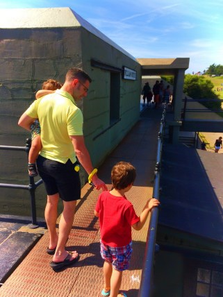 Chris Taylor and Kids at Bunkers at Fort Casey Whidbey Island 1