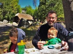 Chris Taylor and Kids having a picnic at Hetch Hetchy Yosemite National Park 2