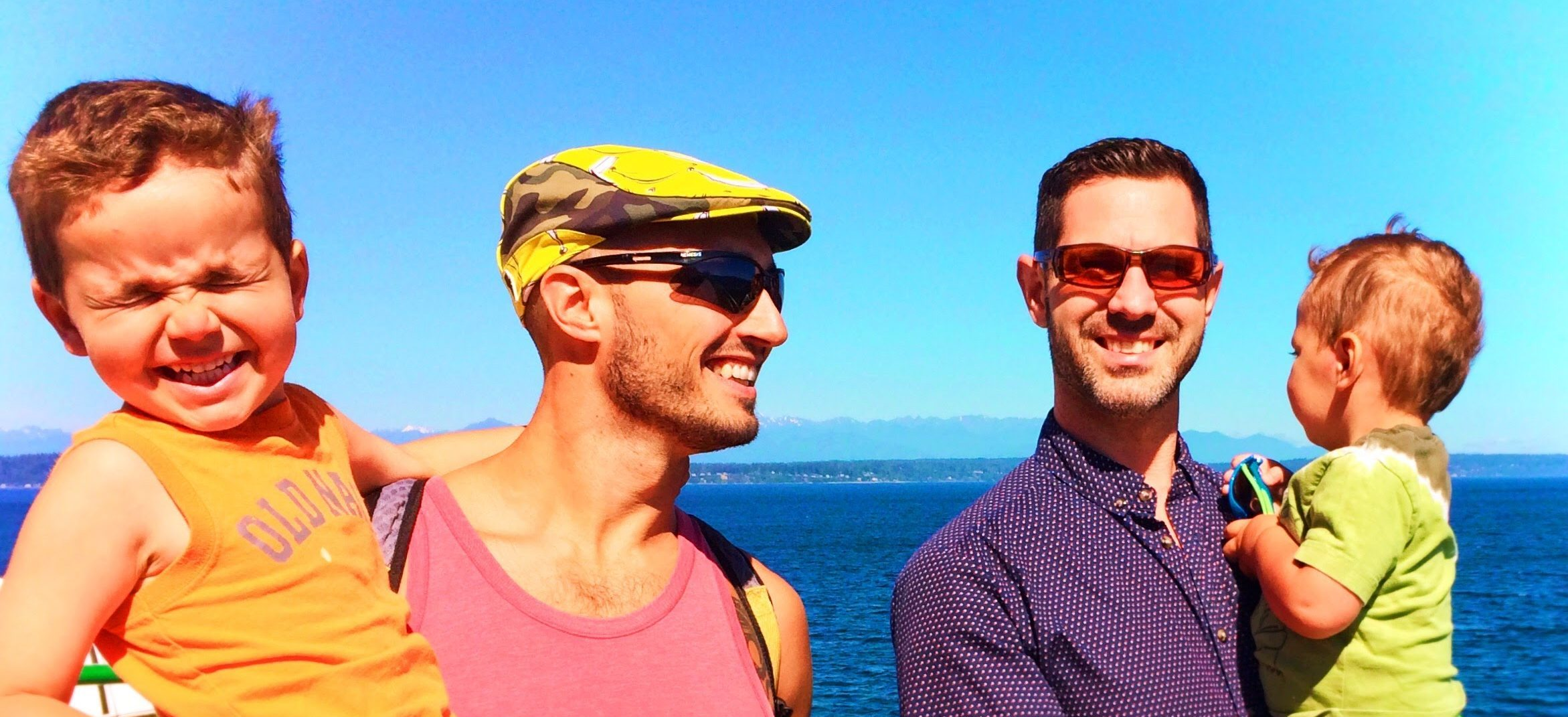 Taylor Family colorful ferry ride header