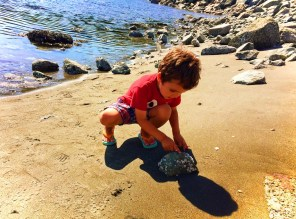 LittleMan Beachcombing at Whidbey Island 1e