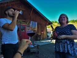 Rob Taylor and staff at Family Friendly wine tasting at AniChe Cellars Underwood Columbia River Gorge 1