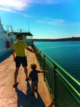 Taylor Family on Port Townsend Whidbey Island Ferry 2e