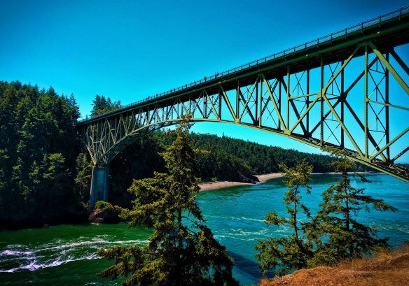 View of Deception Pass Bridge Deception Pass State Park Whidbey Island 1