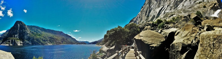 Wapama Falls and Lake at Hetch Hetchy Yosemite National Park 2