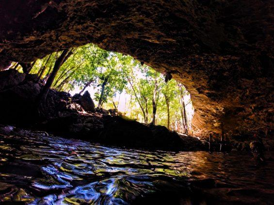 Inside Mouth of Cenotes Dos Ojos Playa del Carmen Mexico 2