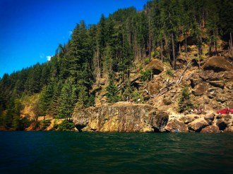 Jumping Rock at Lake Cushman Olympic Peninsula 1