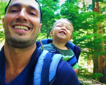Rob Taylor and TinyMan at Silver Falls Mt Rainier National Park 3