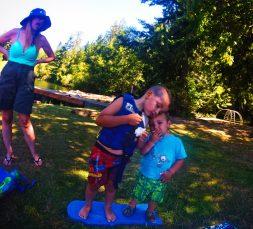 Taylor Kids at Lake Cushman beach