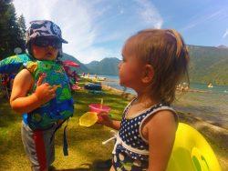 Taylor Kids at Lake Cushman beach 2