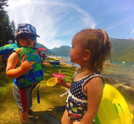 Taylor Kids at Lake Cushman beach 2