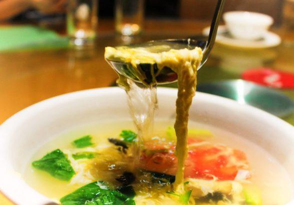 Egg flower soup in Xian Shaanxi China 1
