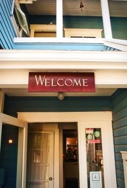 Restaurant entracne at Inn at Ship Bay Orcas Island 1