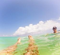 Rob Taylor simming at Beach at Playa del Carmen Mexico 1