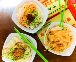 Chinese noodles in Xian Shaanxi China 1